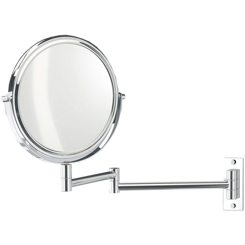 SPT 30 Wall Mounted 5x Cosmetic Makeup Magnifying 2-arms Swivel Mirror. Chrome - AGM Home Store LLC