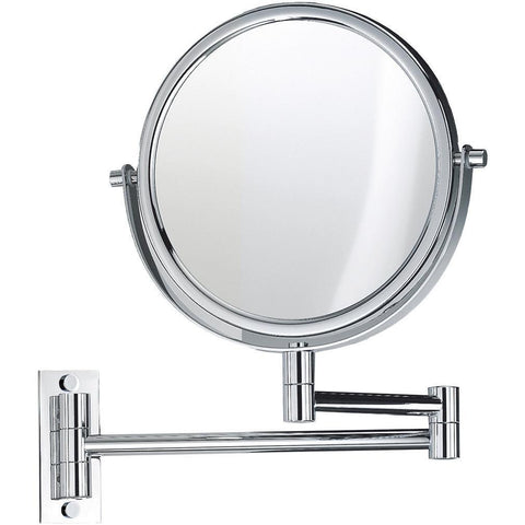 SPT 33 Wall Mounted 5x Cosmetic Makeup Magnifying 2-arms Swivel Mirror. Chrome - AGM Home Store LLC