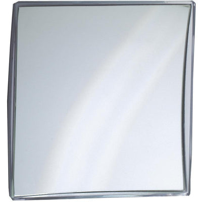 DWBA Rectangular Wall Suction Cosmetic Makeup Magnifying Mirror, Silver Acrylic Frame - AGM Home Store LLC