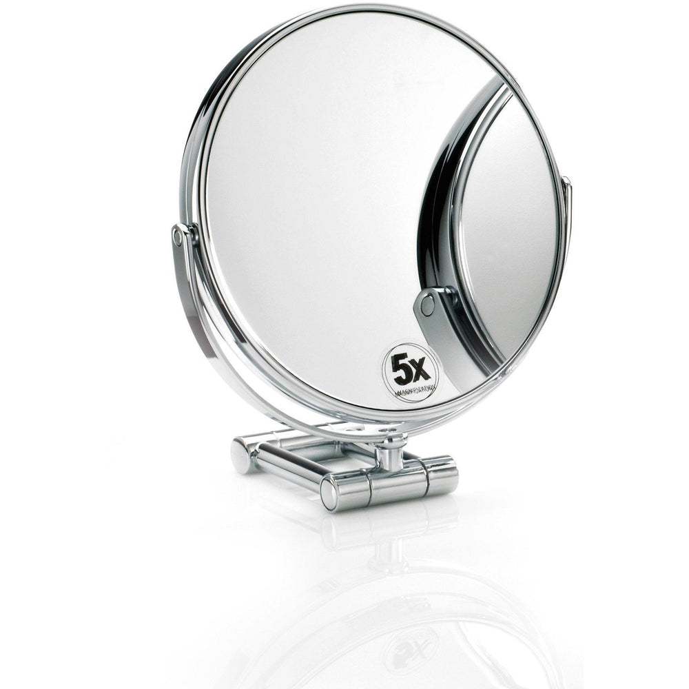 DWBA Round Cosmetic Table Makeup ADJ Magnifying Mirror. Chrome - AGM Home Store LLC