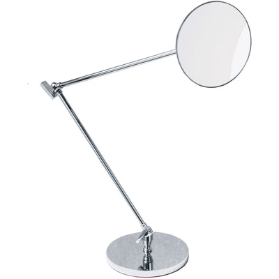 DWBA Table Adjustable Cosmetic Makeup 5x Magnifying Swivel Mirror, Chrome - AGM Home Store LLC