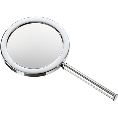 DWBA Round Hand Held Cosmetic Makeup Magnifying Mirror 3x. Chrome - AGM Home Store LLC