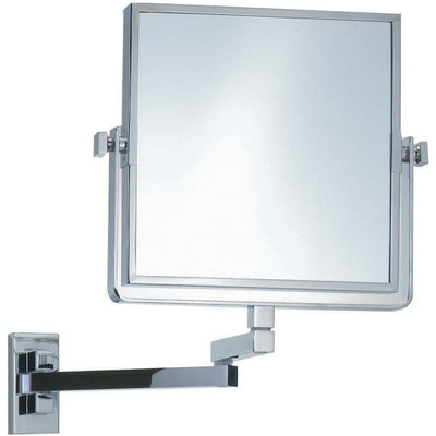 DWBA Dual Sided Wall Cosmetic Makeup 3X Magnifying Mirror, Swivel, Extendable - AGM Home Store LLC
