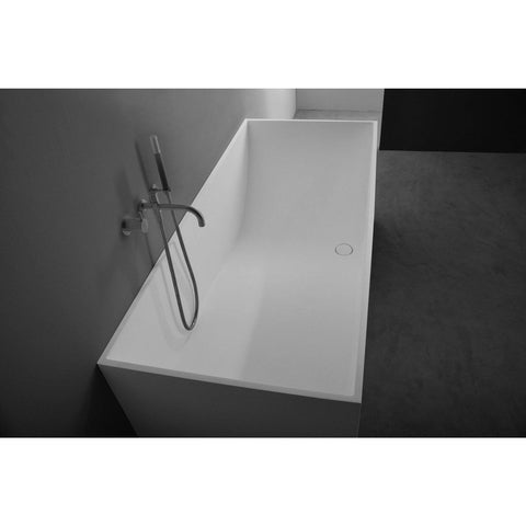 Ideavit Solidstar Rectangular Freestanding Bathtub in White Matte Solid Surface PS-ID278922  PS-ID278612 - More Size Options