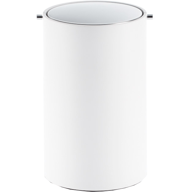 DWBA Stone Round Trash Can Swing cover Wastebasket W/ Revolving Lid - White - AGM Home Store LLC