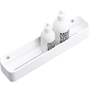 DWBA Stone Bath Shower Caddy White Shelf Organizer Rack for Shampoo Conditioner - AGM Home Store LLC