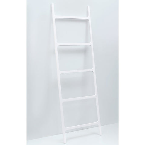 STONE HTL Stone Standing Towel Rack Ladder for Bathroom Spa Towel Hanger, White - AGM Home Store LLC