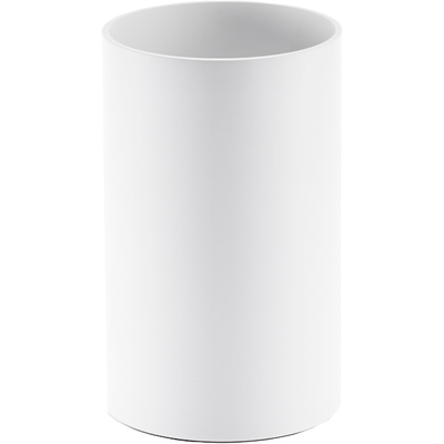 DWBA Stone Round Open Top Trash Can Wastebasket W/O Lid Cover Cover- White - AGM Home Store LLC