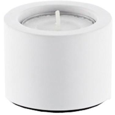 STONE TLH Stone White Spa Bathroom Round Jar Candle Holder - Solid Surface - AGM Home Store LLC