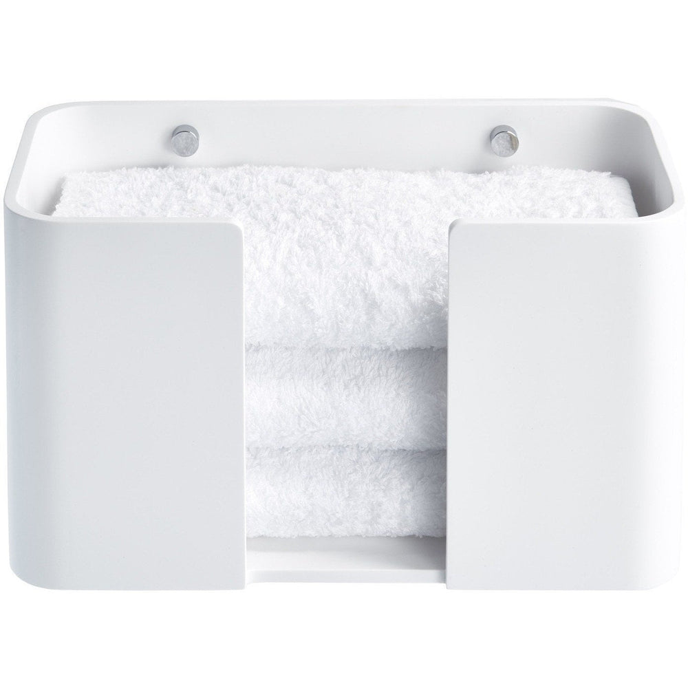 Guest Towel Holder DWBA Stone Wall, Small Towel Tray Dispenser Tissue, White - AGM Home Store LLC