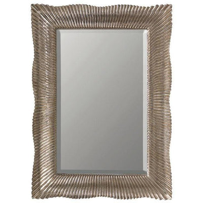 GM Luxury Samira Rectangular Decorative Wall Art Hand Carved Mirror, Antique Silver Leaf 33x45.7 - AGM Home Store LLC