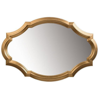 GM Luxury Sebastien Decorative Wall Art Mirror for Elegant Design, Gold Leaf 50x33.5 - AGM Home Store LLC