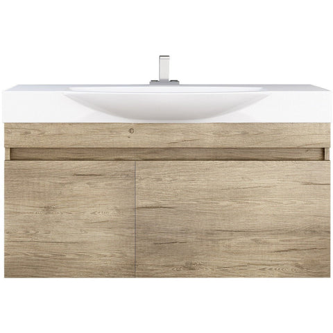 "DP Wall Bath Vanity Cabinet Set 41.3"" Single Sink W/ Laminated PL Wood Finish"