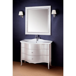 "GM Luxury Serge 39.4"" Bath Vanity Cabinet Set Single Sink, Silver Gloss Lacquer - AGM Home Store LLC"