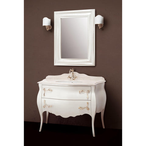"GM Luxury Seta 45.3"" Bathroom Vanity Cabinet Set Single Sink Gloss Lacquer - AGM Home Store LLC"