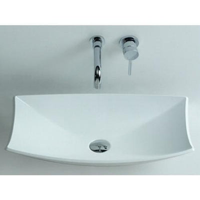 Ideavit Shell Solid Surface Vessel Sink Bowl Above Counter Sink Lavatory for Vanity Cabinet - AGM Home Store LLC