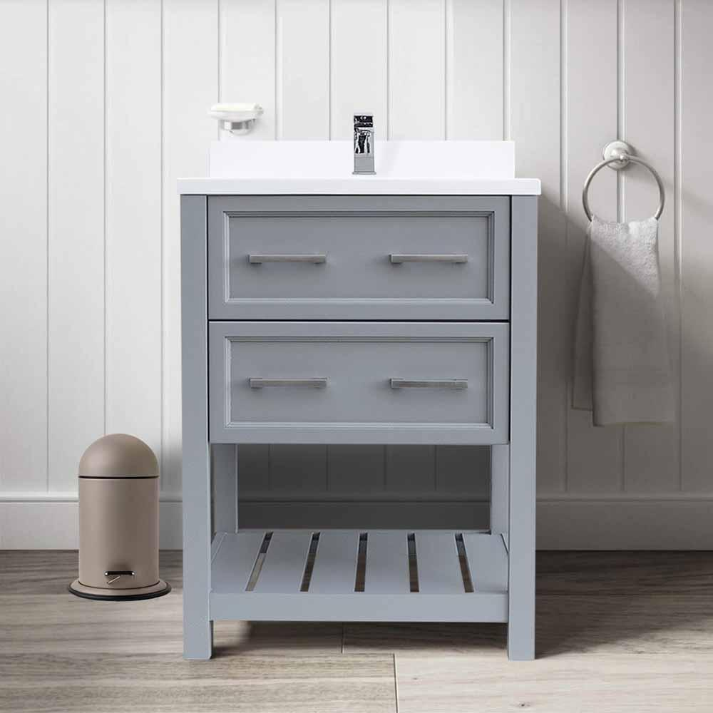 Sku Agm 21x24 Sorrento Gray Item Brand Bella By Agm Homestore Sherri 25 Inch Gray Bathroom Vanity With Cultured Marble Single Basin Top Bathroom Vanities And Sink Consoles Bella By Agm Homestore Gray 550 00 600 00 Floor Standing Mdf