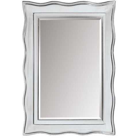 GM Luxury Sicilia Decorative Wall Art Mirror for Elegant Design, Silver Leaf 28x35.8 - AGM Home Store LLC