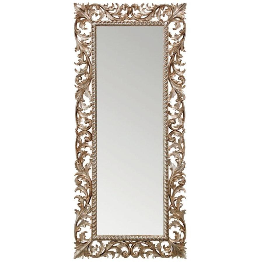 Gm Luxury Slovenia Rectangular Full Length Wall Art Hand Carved Mirror Antique Silver Leaf 31 5x71 Gm Luxury Bath Collection Bathroom Mirrors 7000 00 8000 00 30 To 34 Inches Antique Silver Bathroom Mirrors Glass