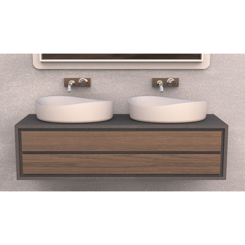 Solidharmony 24 in. Vessel Sink Bowl Above Counter Sink Lavatory - AGM Home Store LLC