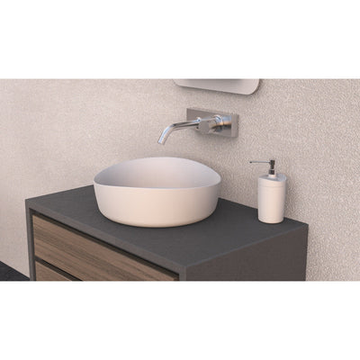ID Harmony Solid Surface 16 in. Vessel Sink Bowl Above Counter Sink Lavatory - AGM Home Store LLC