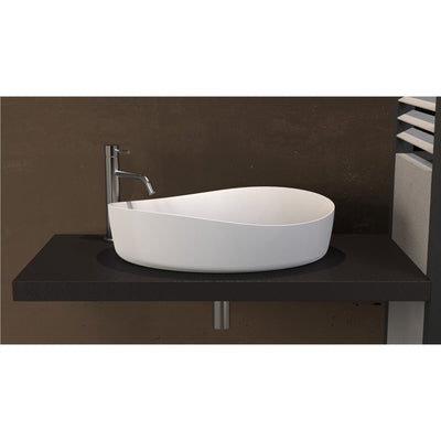 ID Harmony Solid Surface 24 in. Vessel Sink Bowl Above Counter Sink Lavatory - AGM Home Store LLC