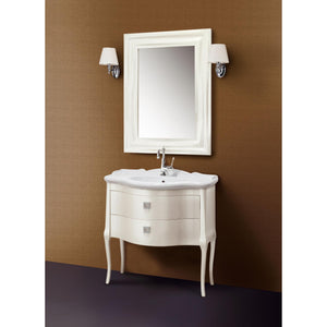 "GM Luxury Suzie 35.4"" Bath Vanity Cabinet Set Single Sink, Cream Gloss Lacquer - AGM Home Store LLC"