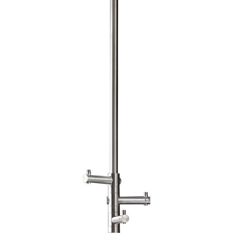 PSBA Ceiling Hook Hanger for Bath Towel, 3-hooks 31-inch Stainless Steel Matte - AGM Home Store LLC
