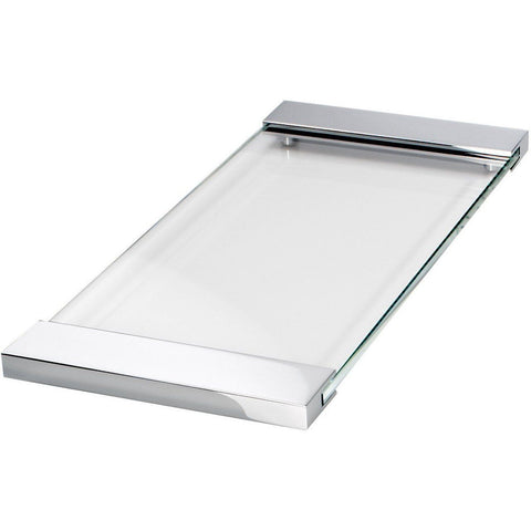 TAB 37 Bath Vanity Countertop Guest Towel, Organizer Glass Tray, 14.6 x 6.7 in. - AGM Home Store LLC