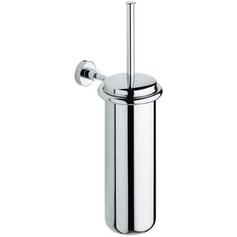 BA Tecno Wall Mounted Toilet Brush Bowl & Holder Set - Brass Chrome