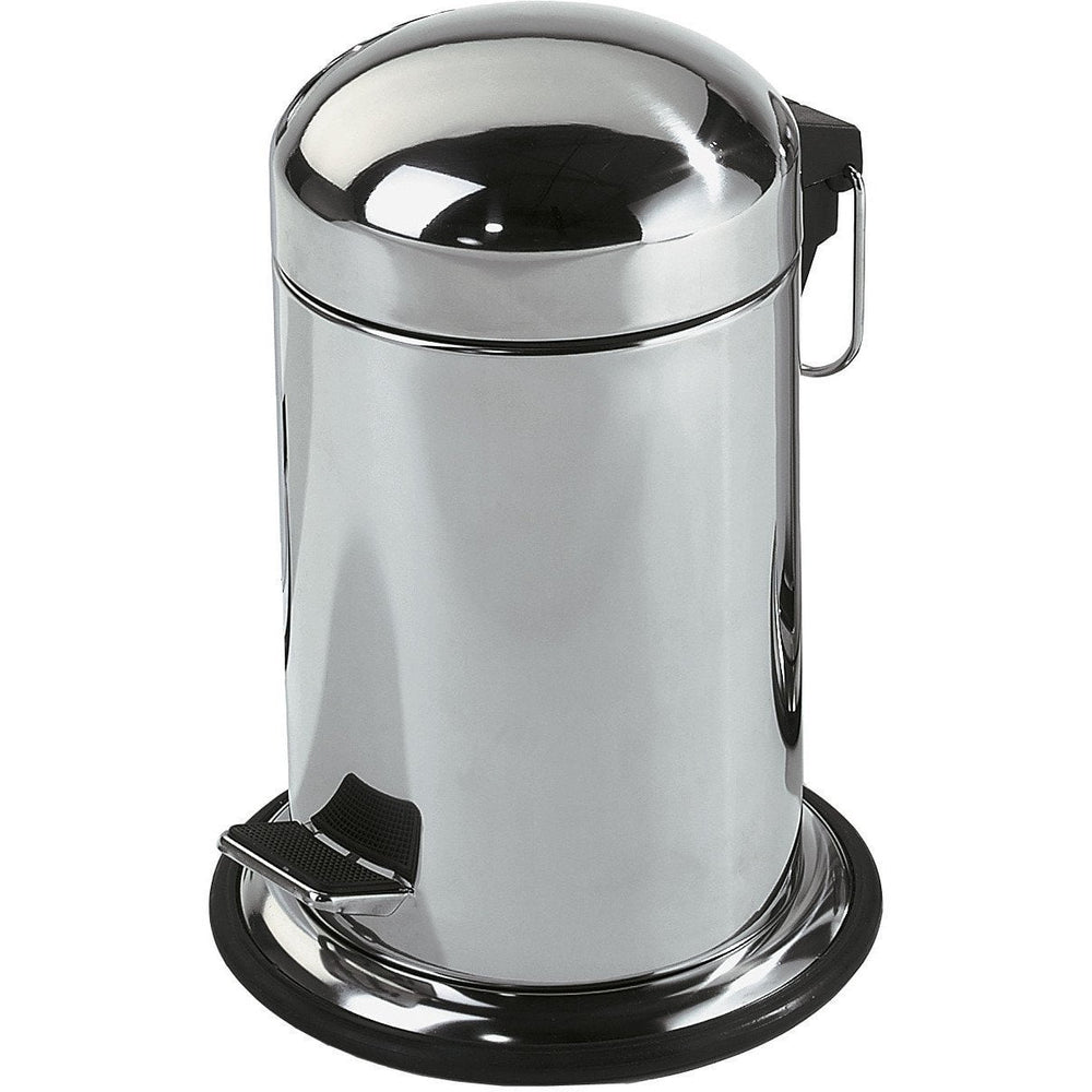 DWBA Round Step Trash Can, Stainless Steel Wastebasket W/ Lid Cover - AGM Home Store LLC