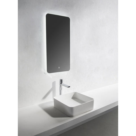 Solidthin Square 16 in. Surface Vessel Sink Bowl Above Counter Sink Lavatory for Vanity Cabinet - AGM Home Store LLC