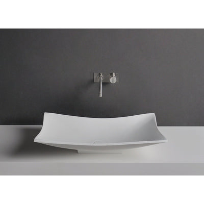 Ideavit Tray Solid Surface Vessel Sink Bowl Above Counter Sink Lavatory for Vanity Cabinet - AGM Home Store LLC