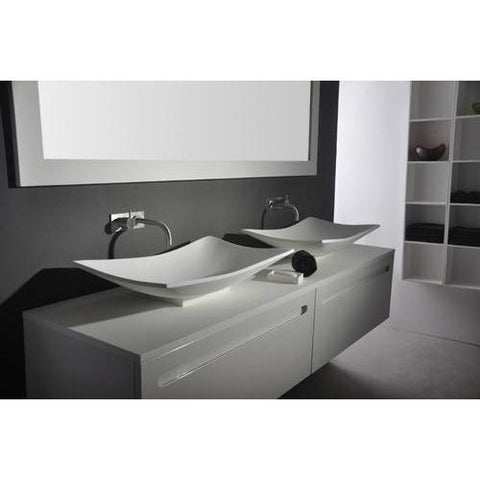 Solidtray Rectangular 25 x 15 in. Vessel Sink Bowl Above Counter Sink Lavatory - AGM Home Store LLC