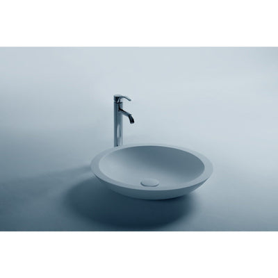 Ideavit Trend Oval  Solid Surface Vessel Sink Bowl Above Counter Sink Lavatory for Vanity Cabinet - AGM Home Store LLC
