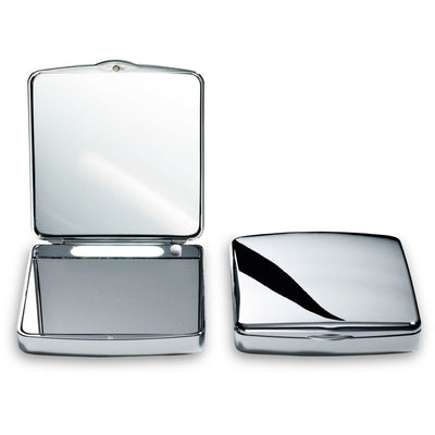 DWBA Hand Cosmetic Makeup Pocket Magnifying Mirror 7x with LED Light. Chrome - AGM Home Store LLC