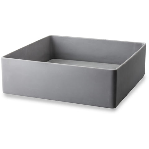 CP Gray Conceal Drain Vessel Sink Above Counter Sink Lavatory for Vanity, Resin - AGM Home Store LLC
