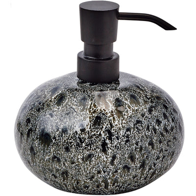Ugo Black Olive Ceramic Bathroom or Kitchen Pump Liquid Soap Lotion Dispenser - AGM Home Store LLC