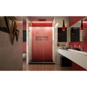 Unidoor Plus 46-46 1/2 in. W x 72 in. H Frameless Hinged Shower Door in Brushed Nickel - AGM Home Store LLC