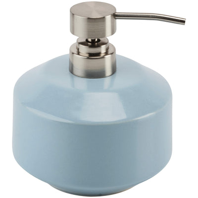 Vita Blue Ceramic Bathroom or Kitchen Pump Liquid Soap Lotion Dispenser - AGM Home Store LLC