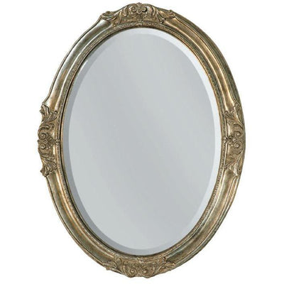 GM Luxury Veneto Oval Decorative Wall Art Mirror for Elegant Design, Antique Silver Leaf 24.4x32.3 - AGM Home Store LLC