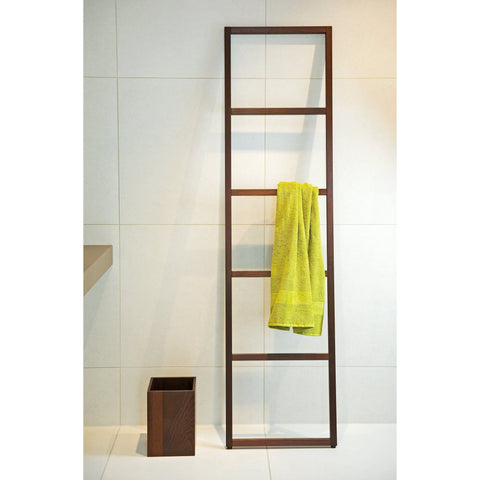 WO HTLE Free Standing Towel Rack Ladder for Bath Spa Towel Hanger, 16.9 inch Width - AGM Home Store LLC