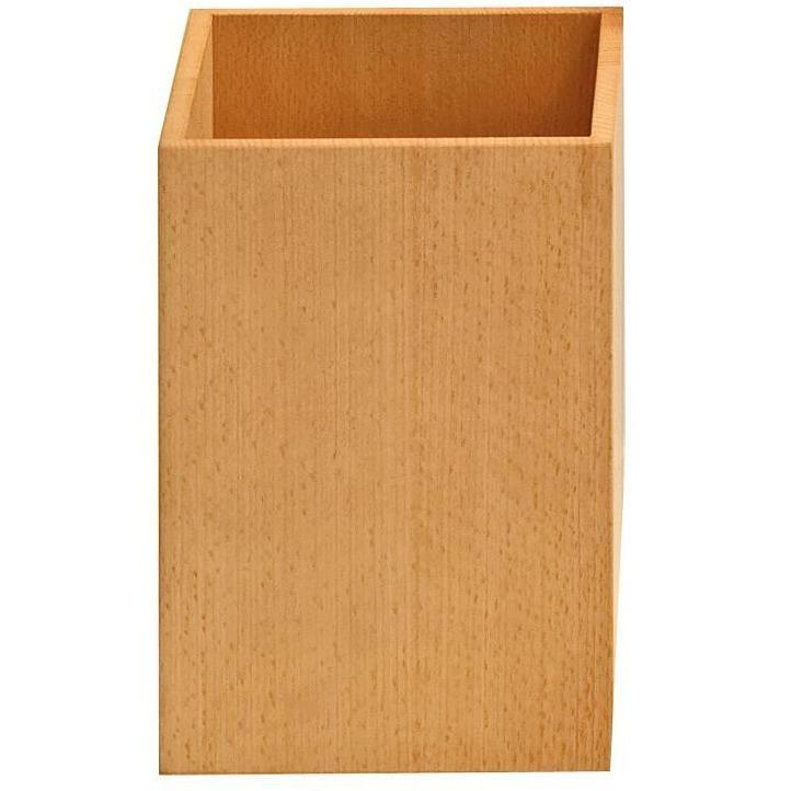 DWBA Light Brown Square Beech Wastebasket Trash Can for Bath, Kitchen, Office - AGM Home Store LLC