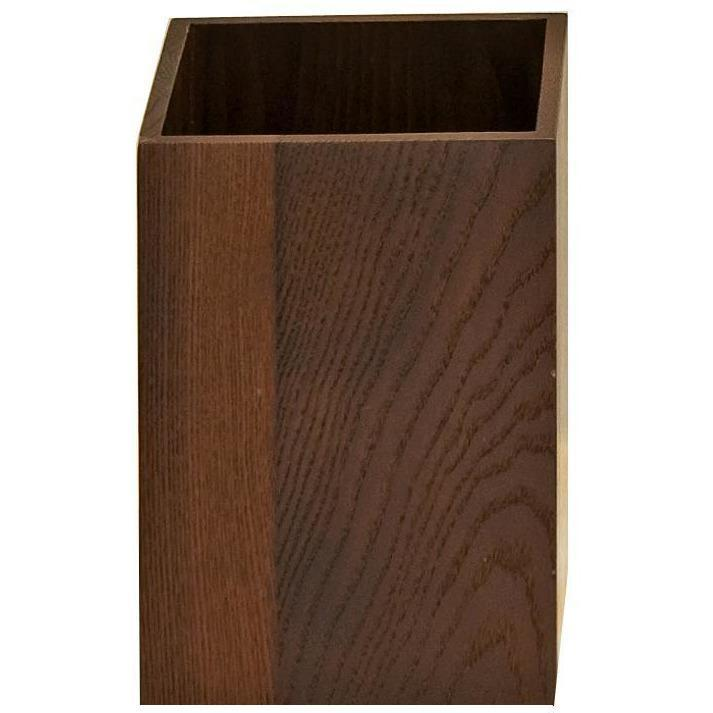 DWBA Dark Brown Square Ash Wastebasket Trash Can for Bath, Kitchen, Office - AGM Home Store LLC