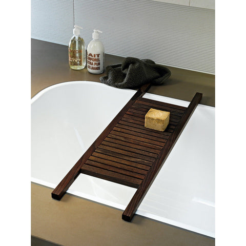WO WANE Bathtub Caddy Tray Bridge Tub Shelf Rack Bath Organizer Storage, Ash - AGM Home Store LLC