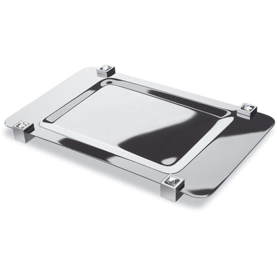 Moonlight Square Chrome Bathroom Tray W/ Swarovski Crystals - White/ Black - AGM Home Store LLC