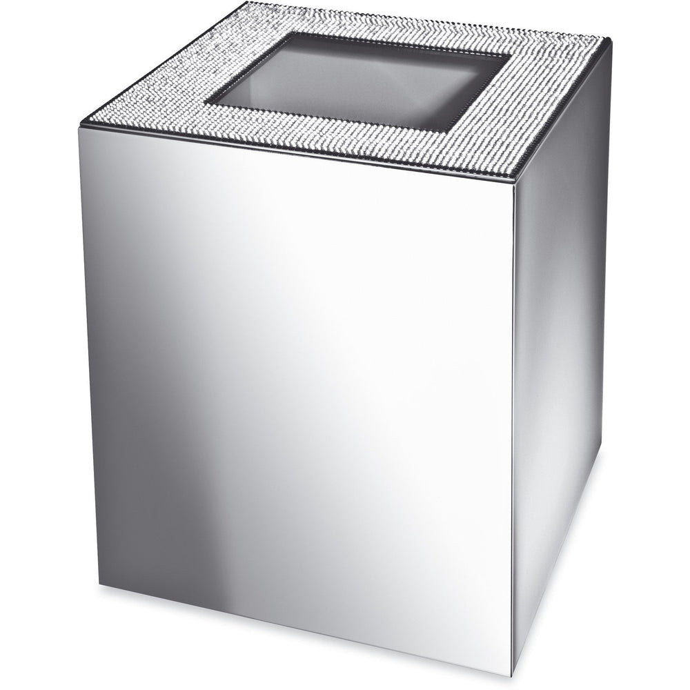Starlight Square Bathroom Wastebasket W/O Cover W/ Swarovski Crystals - AGM Home Store LLC