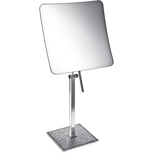 Starlight Square 3x Rectangular Magnifying ADJ Mirror W/ Swarovski - AGM Home Store LLC