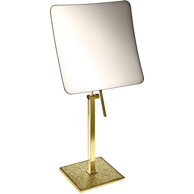 Starlight Square 5x Rectangular Magnifying ADJ Mirror W/ Swarovski - AGM Home Store LLC