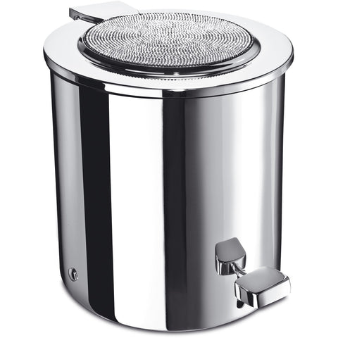 Starlight Round Bathroom Pedal Wastebasket W/ lid & Swarovski Crystals - AGM Home Store LLC